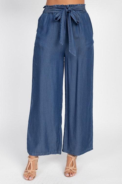 Classic Comfort Wide Leg Pants (Dark Blue)