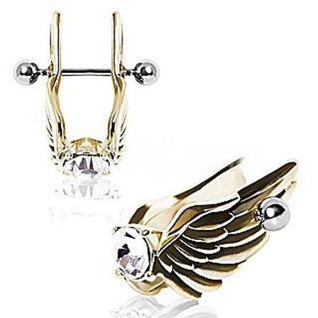 Angel Wings With Gem Cartilage Earring
