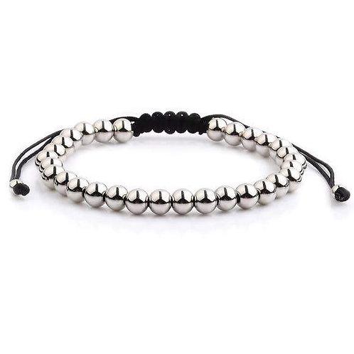 Polished Stainless Steel Adjustable Bracelet