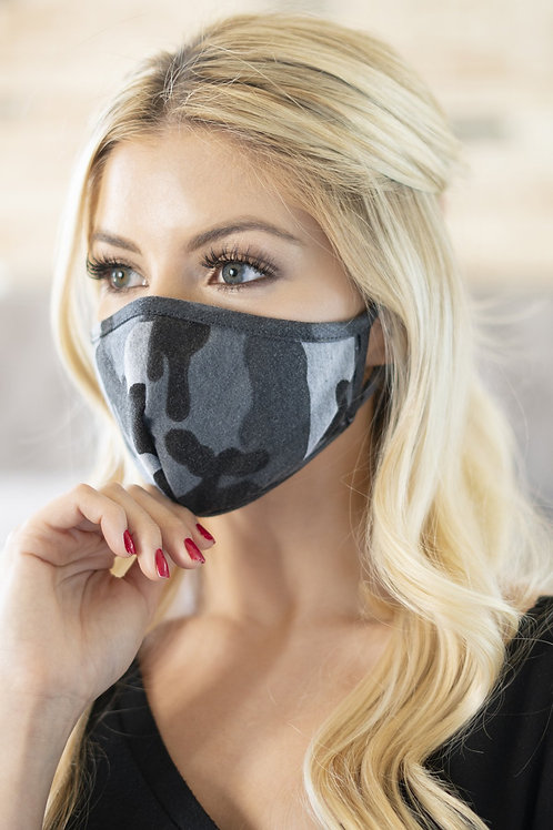 Rfm6001-Rcm006 - Camouflage Reusable Face Masks for Adults