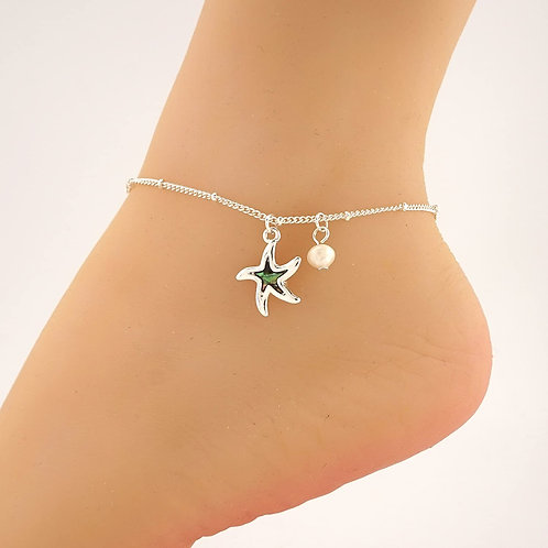 Abalone Charm Starfish Anklet Ankle Bracelet