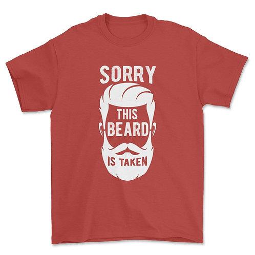 Mens Sorry This Beard Is Taken Shirt