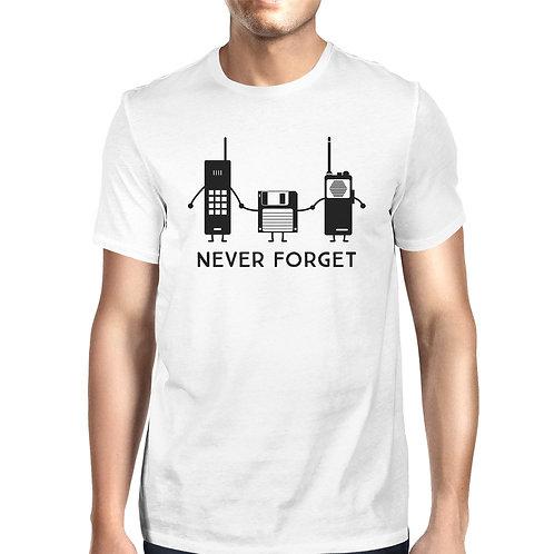 Never Forget Mens White Shirt
