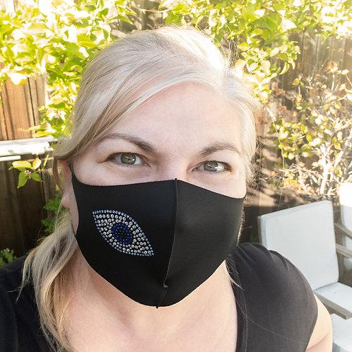 Evil Eye Crystal Fashion Mask