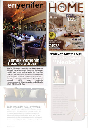 KİLE RESTAURANT INTRODUCTION ON HOME ART AGUST 2010