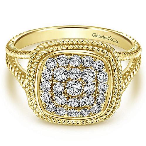 14k Yellow Gold Fashion Diamond Ladies' Ring
