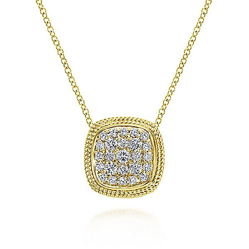 14k Yellow Gold Fashion Diamond Necklace