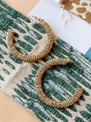 Blitzen Beaded Hoops