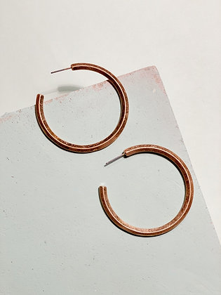 Beveled Gold Hoops
