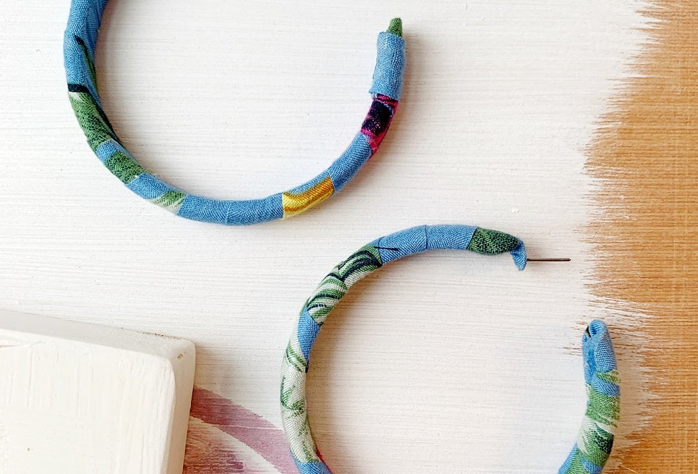 Large Fabric-Wrapped Hoops