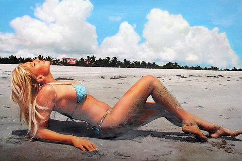 Leia on the Atlantic Dunes