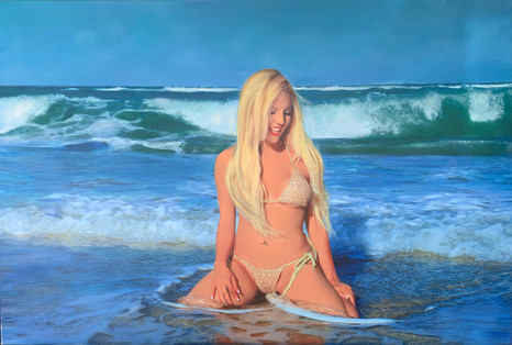 Franchesca Aphrodite in the Waves