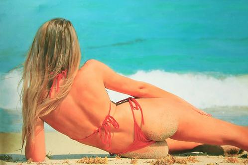 Natalia at the Ocean