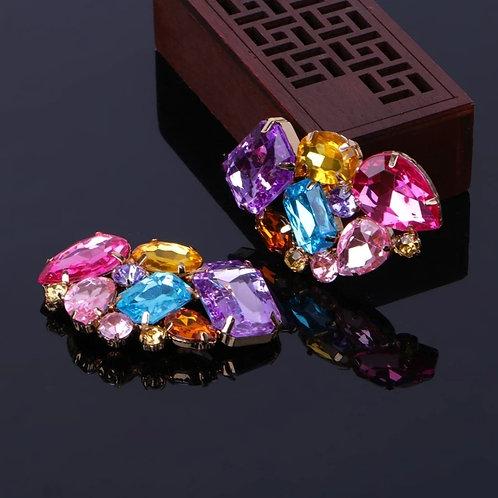 Clip cristal rose