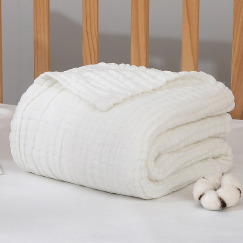 Bamboo baby blankets, cotton muslin baby blanket, size 110 * 110cm