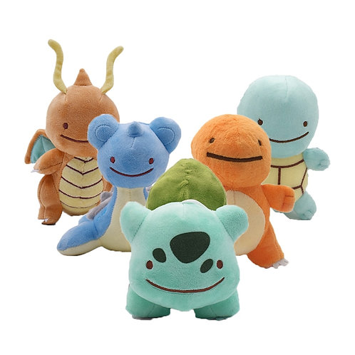 6 Styles Hot Toys Peluche DITTO Lapras, Dragonite, Squirtle, Bulbasaur