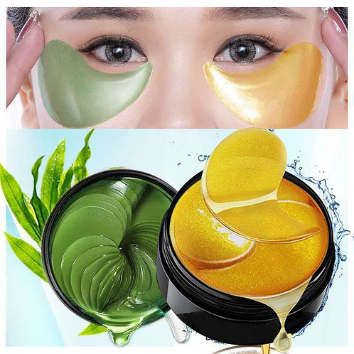 Gold collagen mask, natural moisturizing gel eye patches, 60 pcs