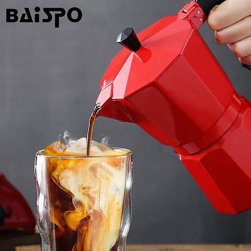 Baispo aluminum coffee pot mocha italian coffee maker portable coffee pot