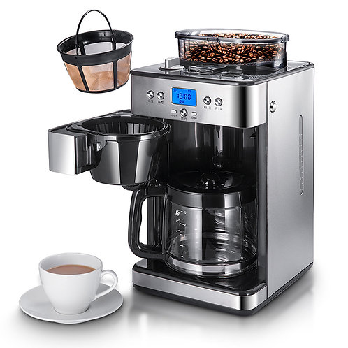 Commercial Household Full Automatic Ground Bean Coffee Machine Drip Coffee Maker