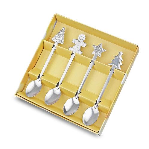 4 things. stainless steel coffee spoons