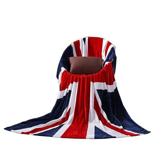150x200cm New Union Jack Fleece Blanket with Flag