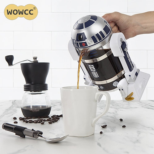 WOWCC 960ml Home Mini Manual Coffee Maker French Portable Coffee Maker