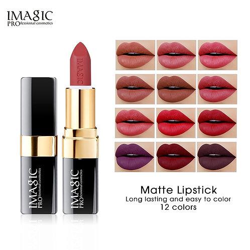 IMAGIC Lipstick, Moisturizing Lip Cream, 12 Colors