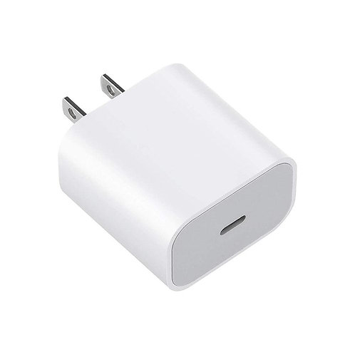 18W 3A USB Type-C White Power Charger Adapter - Bulk