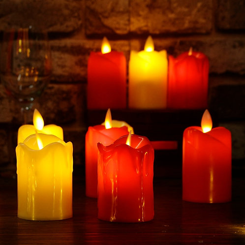 3 pcs. / Lot led flameless candles plastic simulation flame led candles