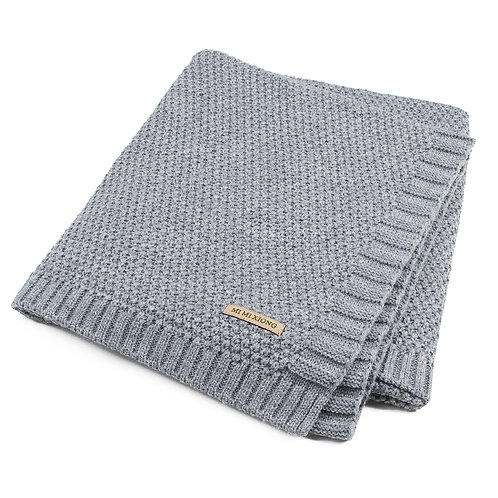 Baby Blanket Knitted Newborn Swaddle Blankets Super Soft Toddler Bedding