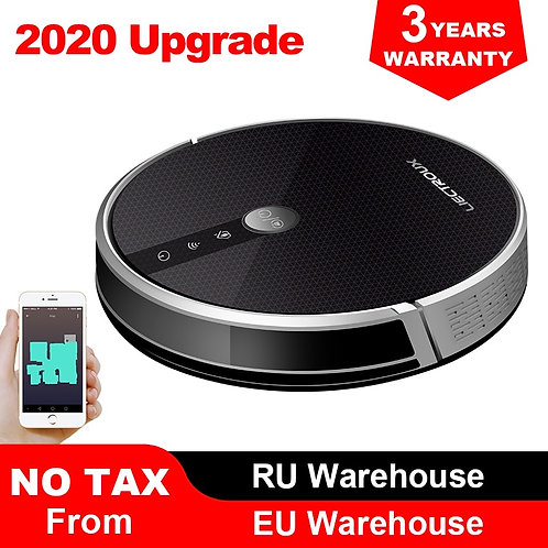 Robot vacuum cleaner, WiFi app, 4000 Pa suction, wet cleaning, disinfection