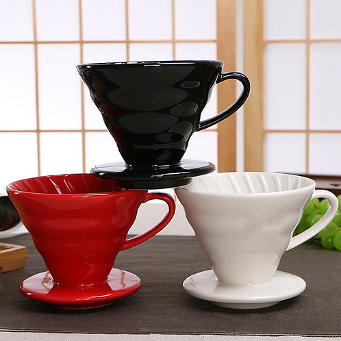 Engine Style Ceramic Coffee Dripper Cup Permanent Fill Coffee Drip Filter