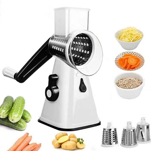 Multifunctional rotary grater, vegetable cutter, vegetable grater