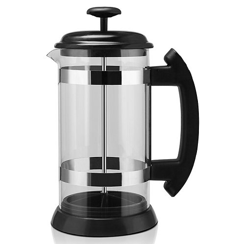 French press, coffee / tea, 1000 ml, stainless steel glass