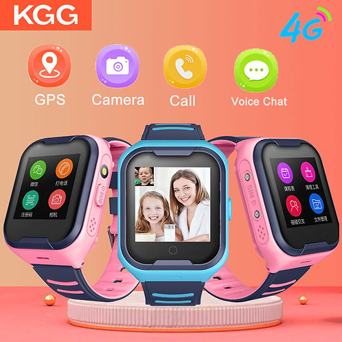 4G Kids Smart Watch GPS SmartWatch Tracker Child Smart Phone Watch SOS Call