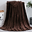 Thumbnail: Plain coral fleece flannel blanket, adult blankets for bed