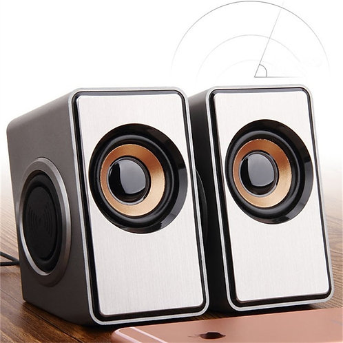 Surround Computer Speakers with Deep Bass USB Wired Powered Multimedia Speaker