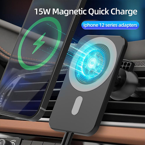 15W Magnetic Wireless Car Charger Stand for iPhone 12 Pro Mini Max Magsafe