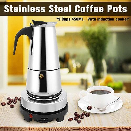 450 ml Ourdoor Home Electric Hotplate Coffee Maker