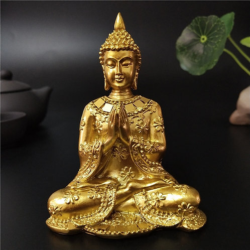 Golden Thailand Buddha Statue Home Garden Decoration