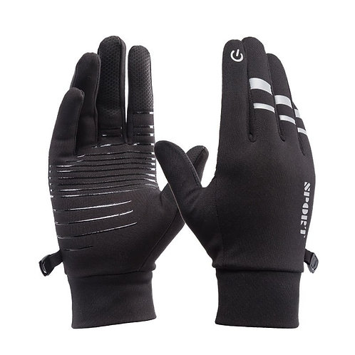Waterproof gloves men and women, winter windproof touch screen mittens