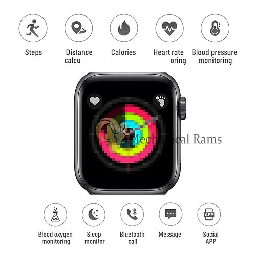 IWO 12 Smart Watch Unisex IP67 Sport X6 SmartWatch for Android IOS Kids Smart W