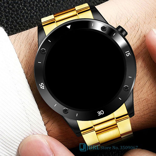 Rose Gold Smart Watch Men for Android IOS Fitness Tracker Touch Bluetooth