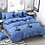 Thumbnail: FUNBAKY 3/4 pcs. / Set Classic blue striped duvet, bedding set