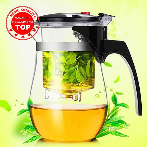 High quality heat resistant glass teapot, Chinese tea set