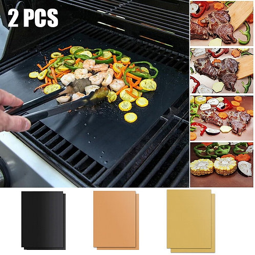 2 pcs. / 1 PC. 3 Colors Ptfe Non Stick BBQ Grill Pads