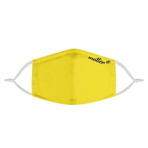 Solid Yellow Matter Mask | Fashion Face Mask