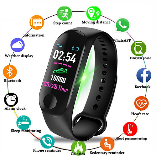 Mission Fit M3 Plus Bluetooth SmartWatch Waterproof Fitness Tracker