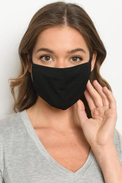 Black Reusable Face Mask for Adults