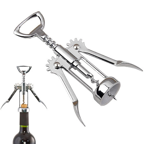 Special Wing Style Stainless Steel, Red Wine Corkscrew